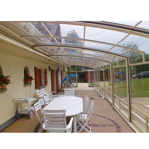 China WDMA Aluminum Frame Safety Polycarbonate Swimming Pool Cover Pool Equipment Enclosures