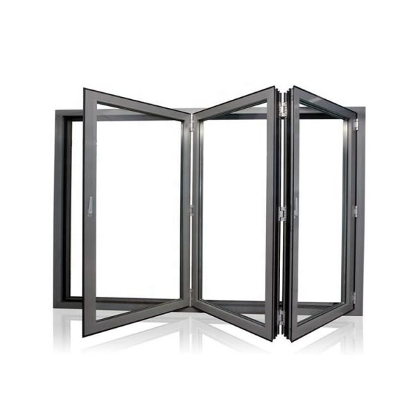 China WDMA Aluminum Kitchen Glass Folding Window For Home