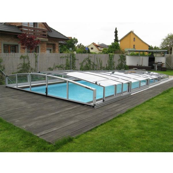 WDMA Aluminum Pool Enclosures Sliding Open Retractable Swimming Pool Dome Cover