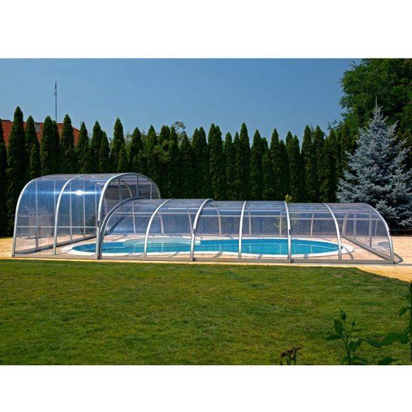 WDMA Aluminum Prefab Sunroom Swimming Pool Cover Motorized Retractable Awning
