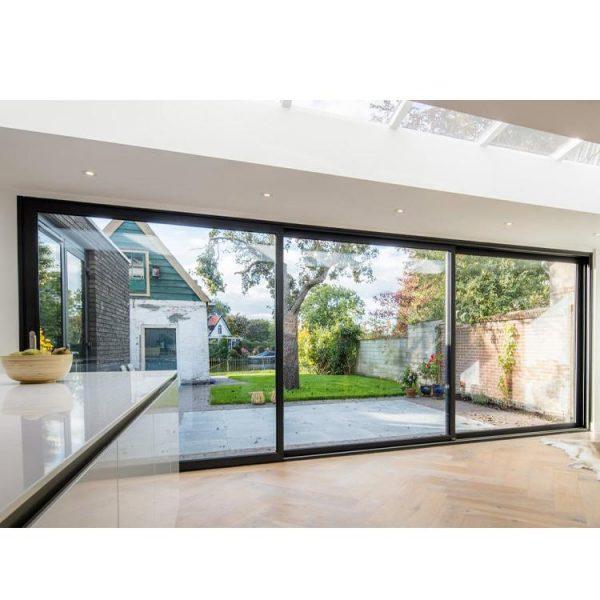 WDMA Aluminum Slimline Aluminium Double Glazed Sliding Patio Doors