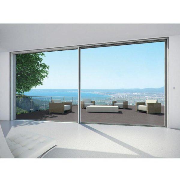 China WDMA Aluminum Slimline Aluminium Double Glazed Sliding Patio Doors