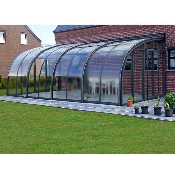 China WDMA Aluminum Swimming Pool Cover Retractable Glass Sunroom Australia
