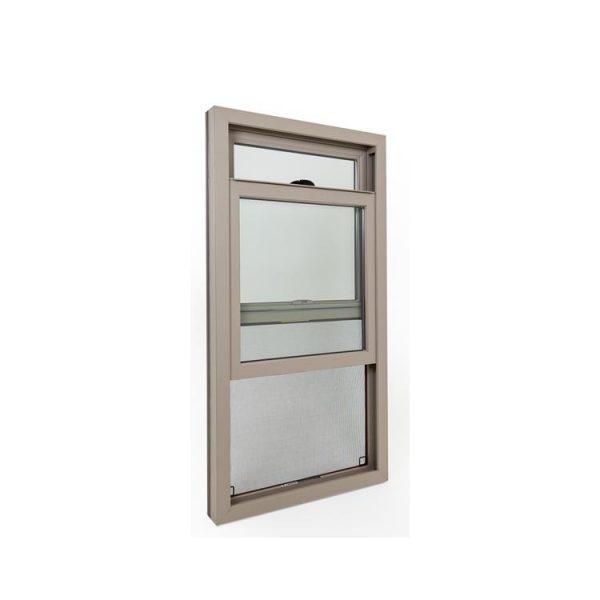WDMA decorative glass window style Aluminum Wood Single Hung Window