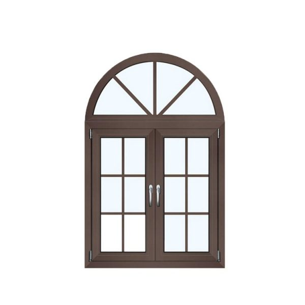 WDMA Anodized Bronze Aluminium Alloy Fabrication Balcony Window Grill Design Arch Casement Window Systems