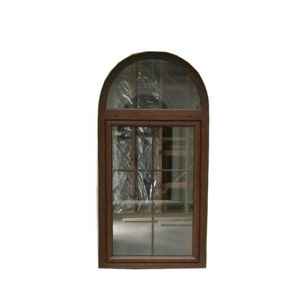 China WDMA Anodized Bronze Aluminium Alloy Fabrication Balcony Window Grill Design Arch Casement Window Systems