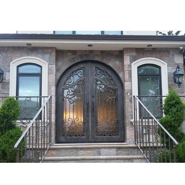 WDMA Apartment Decorate Arches Villa Entrance Iron Glass Main Door Grill Design