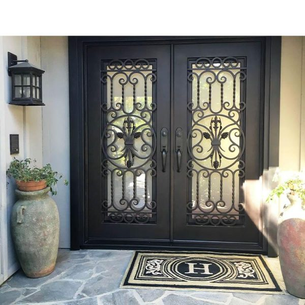 China WDMA Decorate Arches Villa Entrance Iron Door