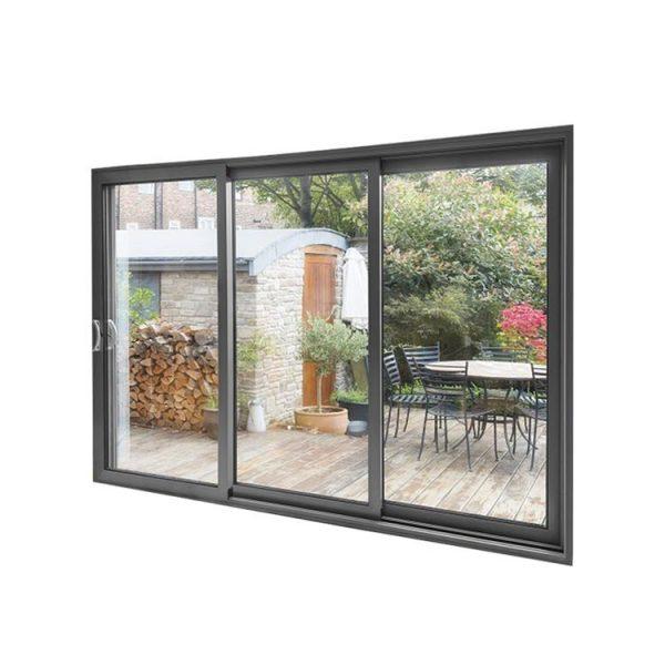 WDMA As1288 Standard Aluminum Glass Triple Sliding Doors Screen