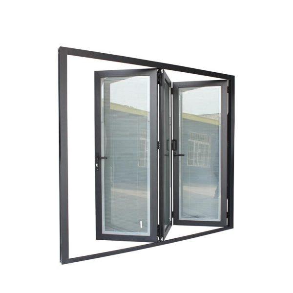China WDMA aluminium bifold door Aluminum Folding Doors