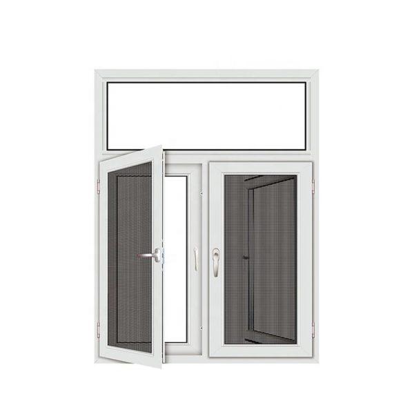 China WDMA Black Aluminium Alloy Double Glazed Fixed Hinged Bay Window And Door Dubai