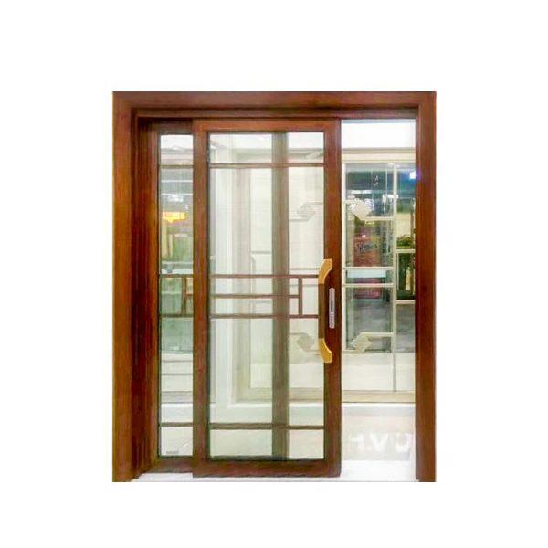 WDMA Building Material 1.2-2.0 Thickness Bi Folding Aluminium Glass Door With Screen