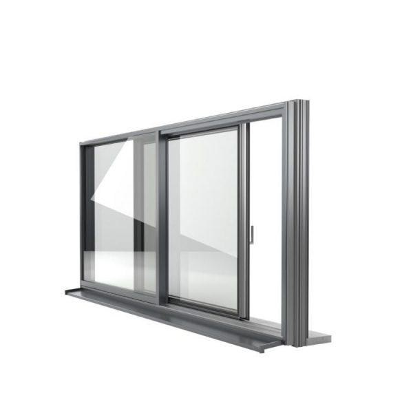 WDMA sliding glass reception window