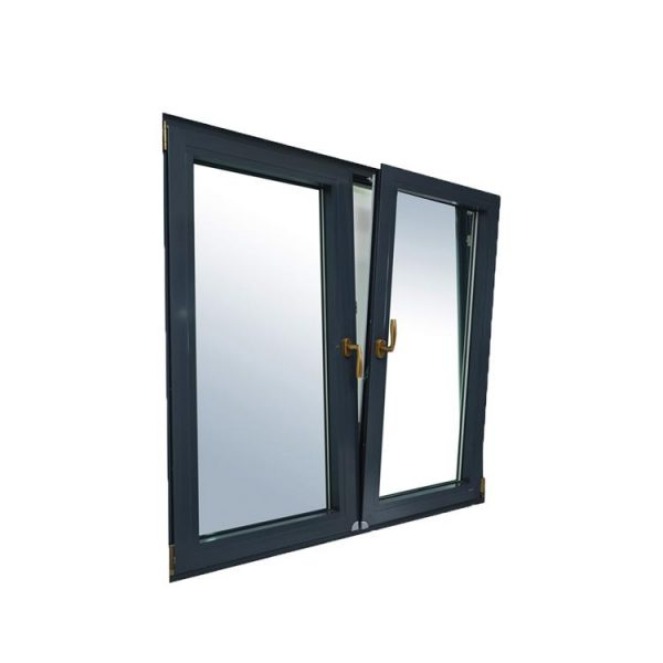 WDMA Burglar Proof Sound Proof Casement Aluminum Tilt Turn Window Factory Supplied