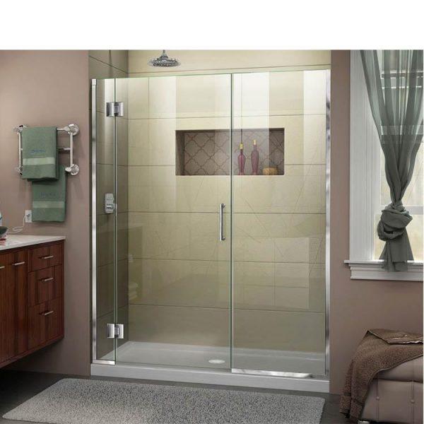 WDMA black corner shower cabin