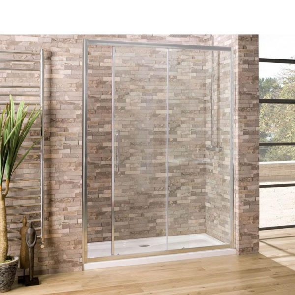 China WDMA Bypass Black Framed Corner Sliding Shower Cabin Shower Door Shower Enclosure