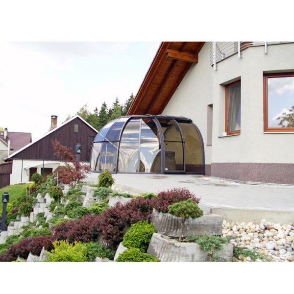 China WDMA Cheap Aluminum Swimming Pool Enclosure Retractable Pool Dome Cover