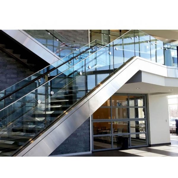 WDMA Cheap Modern Balcony Outdoor Metal Side Mount Baluster Stair Glass Railing Design For Balcony Pictures