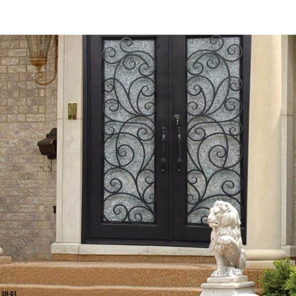 China WDMA Cheap Modern Single Main Door Wrought Iron Gate Design