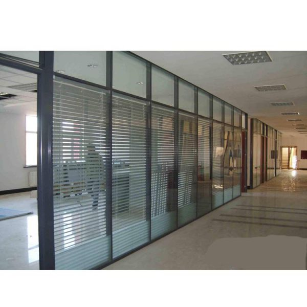 WDMA Cheap Office Living Room Conference Room Aluminium Glass Partition Wall With Blinds Design