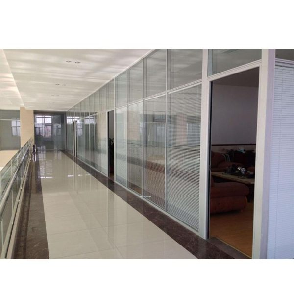 China WDMA Cheap Office Living Room Conference Room Aluminium Glass Partition Wall With Blinds Design
