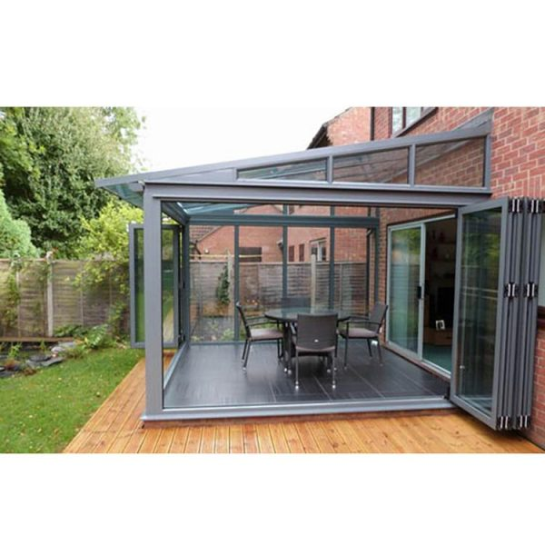 WDMA Cheap Price Of Aluminum Prefabricated Conservatory Glass House For Sell