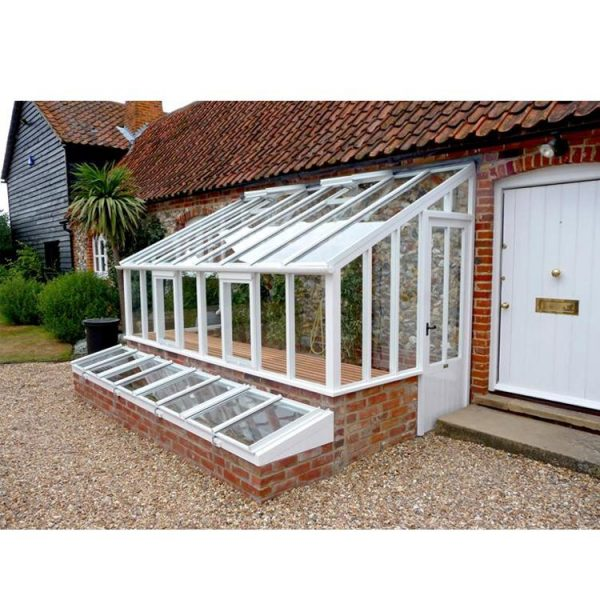 China WDMA Cheap Price Of Aluminum Prefabricated Conservatory Glass House For Sell