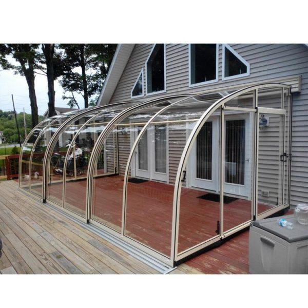 China WDMA Cheap Retractable Aluminium Cover Sliding Swimming Pool Roof Cover Enclosures