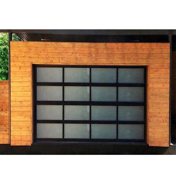 WDMA transparent sectional garage door