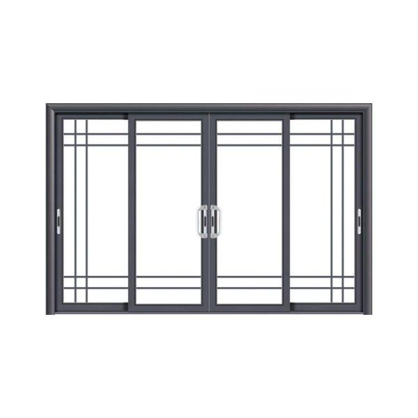 WDMA China 8 Ft Interior Doors Aluminum Frame Hanging Trackless Glass Sliding Barn Door Mechanism For Dressing Room