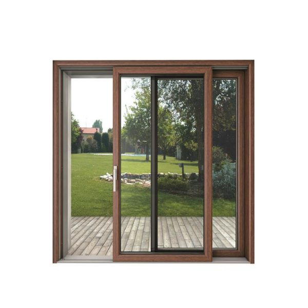 China WDMA China 8 Ft Interior Doors Aluminum Frame Hanging Trackless Glass Sliding Barn Door Mechanism For Dressing Room