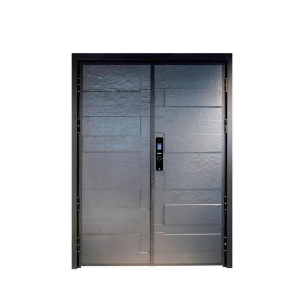 WDMA China Casting Aluminium Exterior Security Entrance Entry Front Armored Storm Door Designs Shandong