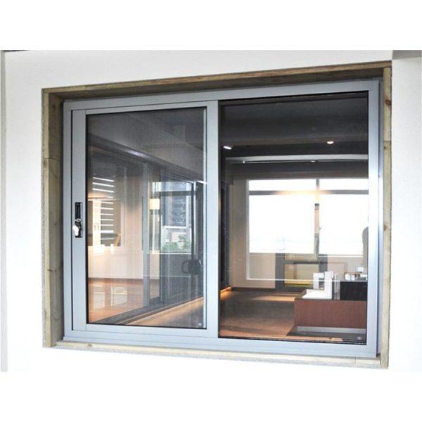 WDMA Aluminum Sliding Tempered Glass Window