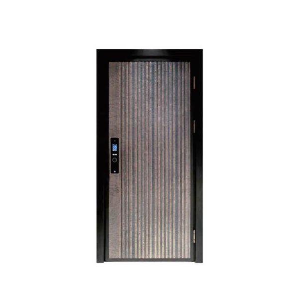 China WDMA China Modern Aluminium Security Double Leaf Swing Door Main Gate Design Cast Aluminium Door Price