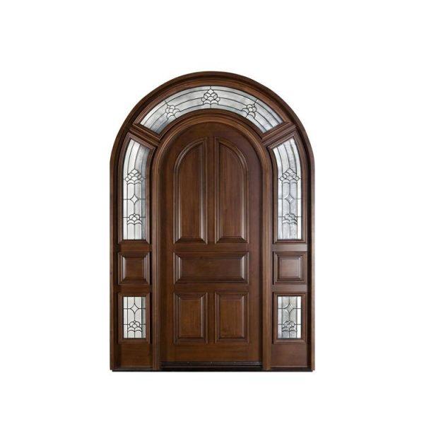 WDMA China Supplier Comfortable Interior Curved White Wooden Doors Solid Wood Bedroom Door