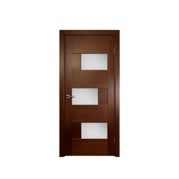 China WDMA China Supplier Comfortable Interior Curved White Wooden Doors Solid Wood Bedroom Door