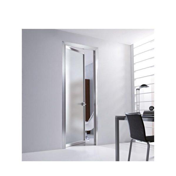 WDMA China Used Customized Economy Ethiopia Stainless Steel Metal Frame Glass Door