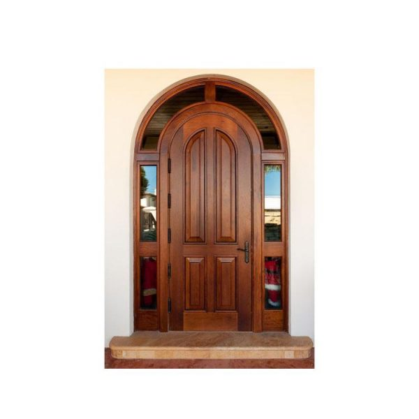 China WDMA China Well-know Brand Wooden Arch Main Door Rmodels Design