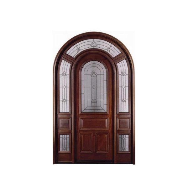WDMA Chinese Supplier Customized Antique Solid Round Wooden Arch Doors