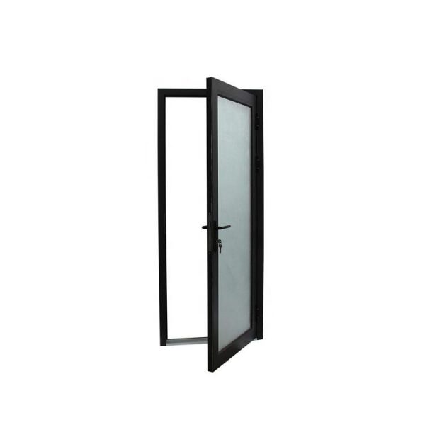 China WDMA Commercial Aluminium Interior Kitchen Office Swing Half Size Door