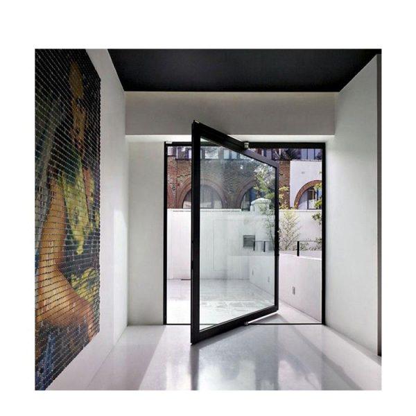 WDMA Commercial Entrance 180 Degree Interior exterior Aluminium Double Glass Hinge Swing Pivot Entry Spring Door House