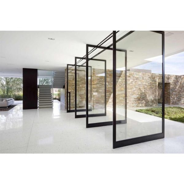 China WDMA Glass Pivot Door