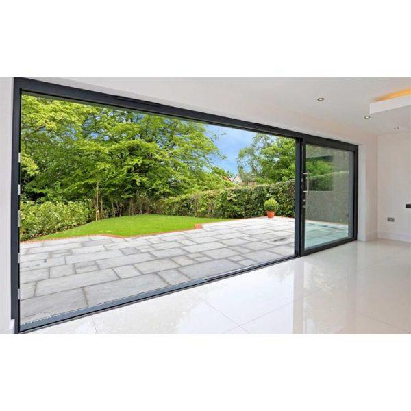 WDMA Commercial exterior Aluminum Automatic Sliding Door System Prices Design