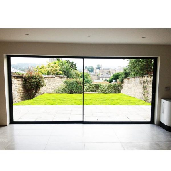 WDMA Commercial Large Aluminium Main Entrance Sliding Toughened Glass Door Design