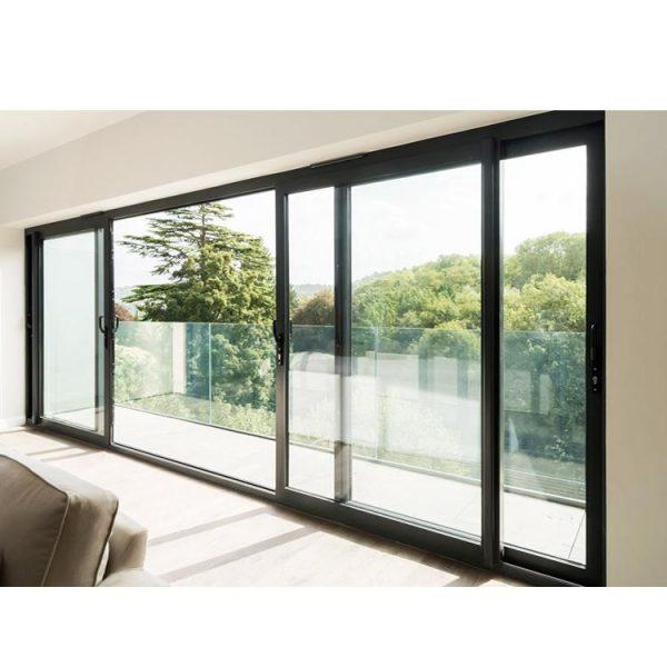 WDMA Competitive Price Aluminum Single Panel Interior Magnetic Metal Sliding Door
