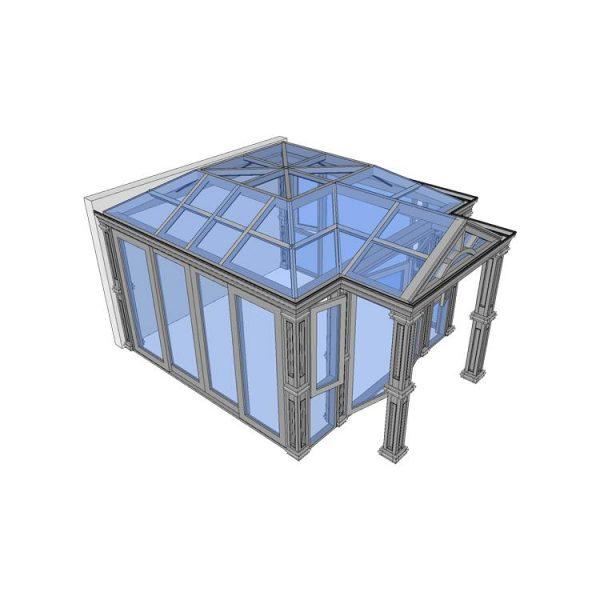 WDMA Custom Aluminum Prefabricated Glass Sunroom Panels Conservatory Roof