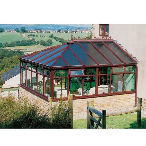 China WDMA Custom Aluminum Prefabricated Glass Sunroom Panels Conservatory Roof
