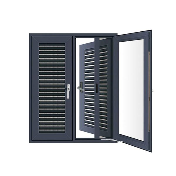 WDMA Custom Made Latest New Dark Grey General Aluminium Storm Replacing Casement Window With Glass And Grill For Mobile Home And Port