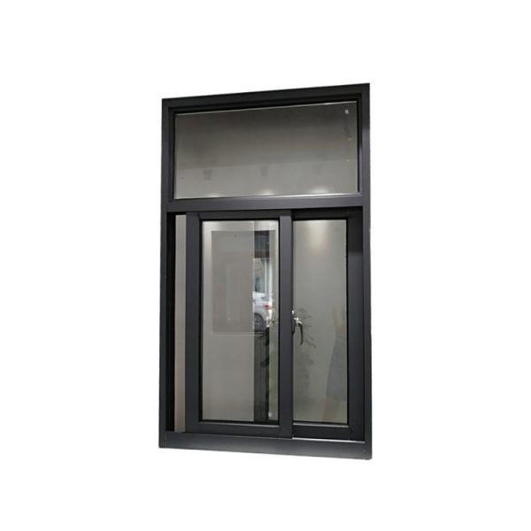 WDMA White Aluminium Frame Glass Window