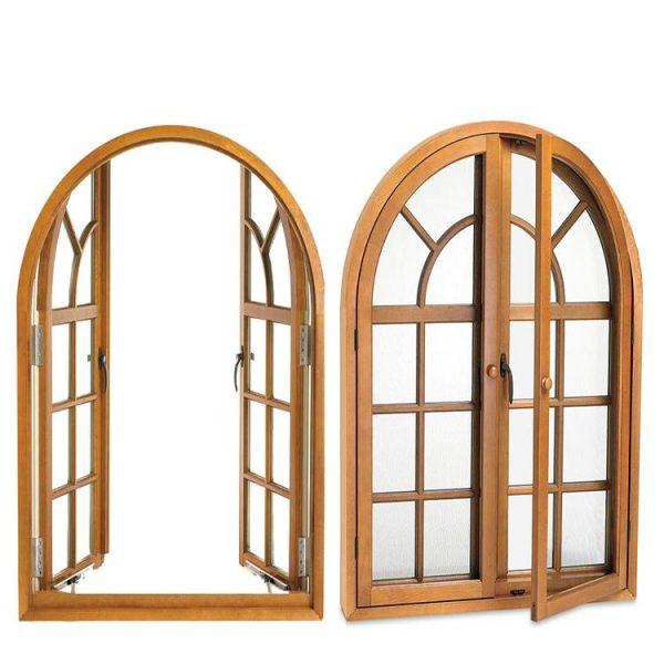 WDMA Double Glazed Aluminium Thermally Broken Brown Color Casement Window Automatic Window For Balcony
